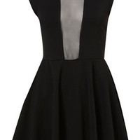 Petite Mesh Insert Skater Dress - New In This Week - New In - Topshop