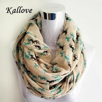Horse Print Infinity Scarf