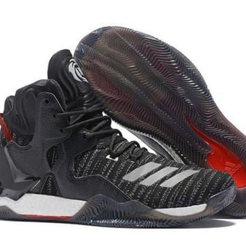 Adidas D Rose 7 Primeknit Black, White & Red Derrick Men's Basketball Shoes