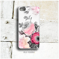 iPhone 5 Case Floral, iPhone 5s Case Rose Flower, iPhone 4 Case, iPhone 4s Case, Vintage iPhone Case, Peony Rose iPhone Cover T51