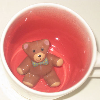 Brown Teddy Bear Surprise Mug