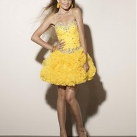Beautiful Elegant Design Organza Sweetheart Short Party Dress ML9171
