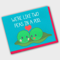 Funny Anniversary Card - We're Like Two Peas In A Pod - Peas In A Pod - I Love You Card - Funny I Love You Card - Funny Anniversary Card