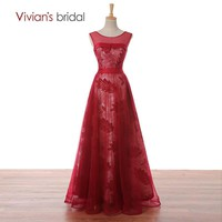 Bridal Tank Sleeveless A Line Evening Dress Lace Tulle Formal Evening Gown Floor Length