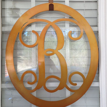 Metal Monogram Door Hanger/ Wreath/ Wall hanger/ Wedding gift/ Anniversary gift/ Housewarming