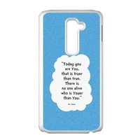 Dr.Seuss Quote Cloud Pattern Personalized Plastic Case for LG G2 (Fit for AT&T)