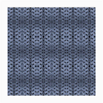 Futuristic Geometric Pattern Design Print in Blue Tones Glasses Cloth (Medium, Two Sided)