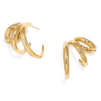 Women's BaubleBar 'Coil' Post Earrings - Gold