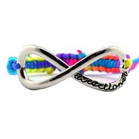 Directioner (TM) Multicolor Braided Silver Tone Infinity Fan Bracelet MB288R