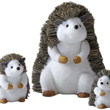Martha Stewart Living™ Hedgehog Family Figurines - Set of 3 - Holiday Decor - Wildlife Decor | HomeDecorators.com