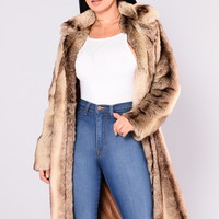 Fur Real Fur Coat - Natural