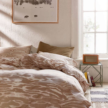 Printed Plywood Duvet Cover - Urban Outfitters