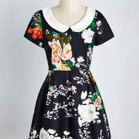 Record Time Dress in Navy Blooms | Mod Retro Vintage Dresses | ModCloth.com