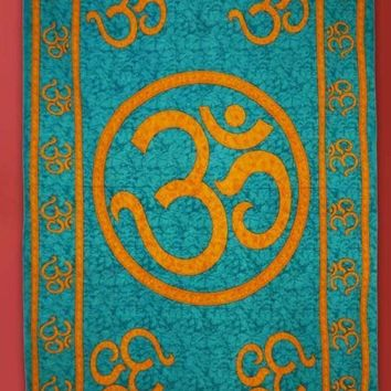 Decorative Om Print Wall Hanging Bed Boho Tapestry