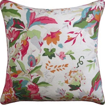 Horseshoe Bay Pink & Orange Pillow