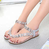 2017 Women Sandals Summer Style Bling Bowtie Fashion Peep Toe Jelly Shoes Sandal Flat Shoes Woman 3 Colors 01F669
