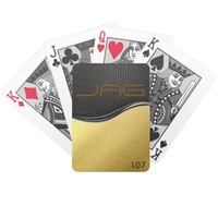 Black Carbon on Brushed Gold Playing Cards