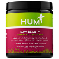 Sephora: Hum Nutrition : Raw Beauty Green Super Food Powder - Tahitian Vanilla & Berry Infusion : vitamins-for-hair-skin-nails