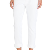 True Religion Audrey Rolled Slim in White Wash