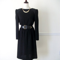 Vintage Black Dinner Semi-formal Dress