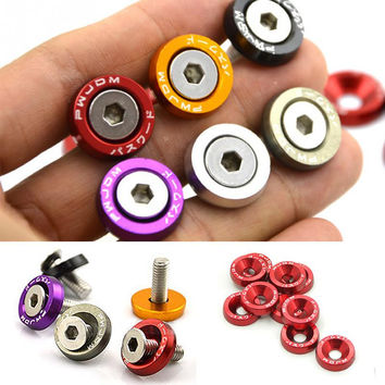 10PCS M6x20 Car Styling Universal Modification JDM Sticker Stickers Fender Washer License Plate Bolts Auto Accessories
