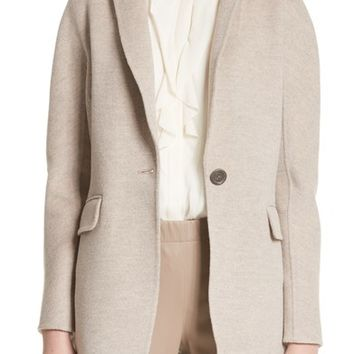St. John Collection Double Face Wool, Angora & Cashmere Blend Blazer | Nordstrom