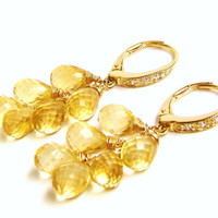 Citrine CascadeEarrings SUNSHINE by VeraidaGifts on Etsy