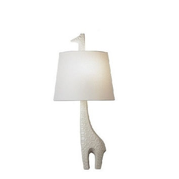 Jonathan Adler | Ceramic Giraffe Wall Sconce | Left