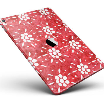 "the Red WAtercolor Floral Pedals Full Body Skin for the iPad Pro (12.9"" or 9.7"" available)"