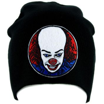 ac spbest Pennywise Clown Stephen King's It Beanie Knit Cap Gothic Horror Clothing Halloween