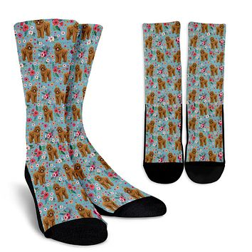 Goldendoodle Flower Socks - Promo