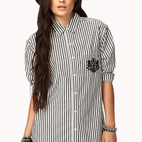 Seaside Nautical Striped Shirt | FOREVER 21 - 2040495489
