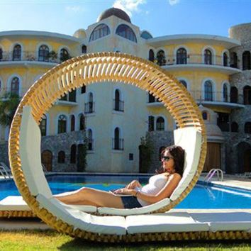 Stylish Unique Circle Double Patio Lounger | Trends of Home Design, Home Decorating, Home Furniture, Office and Garden - HomeDecoratingTrends.com