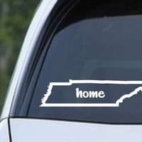 Tennessee Home State Outline TN - USA America Die Cut Vinyl Decal Sticker