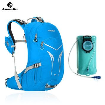 20L External Frame Backpack w/ Rain Cover and Water Bag