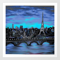 Eiffel Tower ~ Paris France Art Print by  RokinRonda