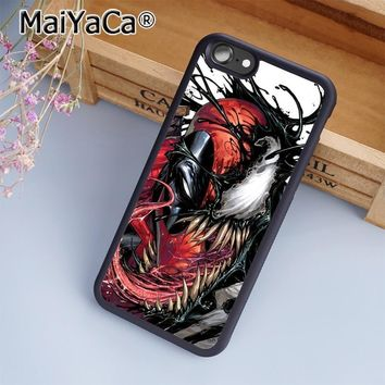 MaiYaCa Deadpool Venom Marvel Amazing Phone Case Cover for iPhone 5 5s 6 6s 7 8 Plus X soft case for samsung S6 S7 S8 edge Plus