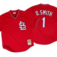 Ozzie Smith 1996 Authentic Mesh BP Jersey St. Louis Cardinals Mitchell & Ness Nostalgia Co.