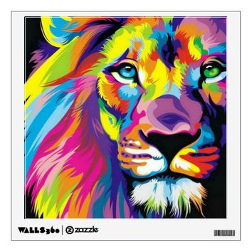 Colorful Lion Wall Sticker