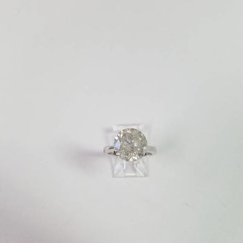 6.64 Carat G I1 Round Diamond Engagement Ring 14K Ring Anniversary Bridal Great Huge Size Rare Find Low Price! New Arrival!!