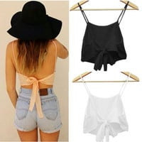 Camisole Shirt  Casual Blouse Crop Tops 3 Colors Tanks