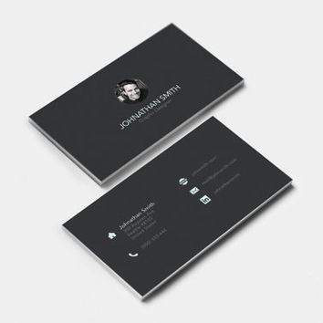 Business Card Design - Graphic Designer | Minimalistic | Clean | UX Designer | UI Designer | Sleek | Professional | Modern | Template