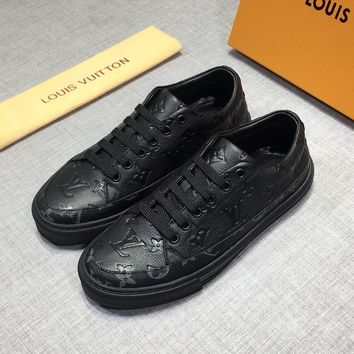 Louis Vuitton LV Men Fashion Sneakers Sport Shoes Black
