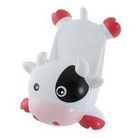 Tabletop Mobile Phone White Cow Shape Display Stand Holder
