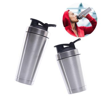 Two Layer Vacuum Cup Protein Shaker Water Bottle Stainless Steel For Women Men Fitness Exercise And Outdoor Sports Shaker Cup
