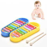 Baby Kids Boys Girls Educational Toy Musical Instrument 8-Note Xylophone Toy HU