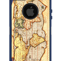 OTTERBOX Commuter iPhone 5 5S 5C 4/4s Case World Map Atlas Geography FASHION SERIES Collection