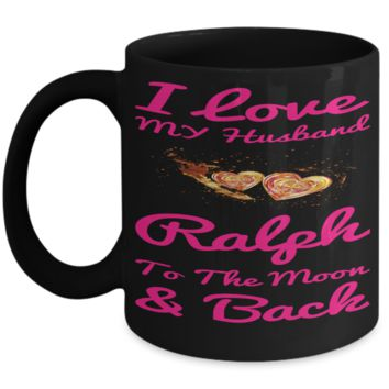 Personalization Gift Husband Mug Valentines Day 2017 2018 Couples Cup Moon Back