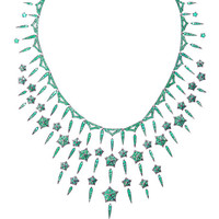 Stephen Webster Stargazy 18K Rhodium White Gold and Emerald Necklace