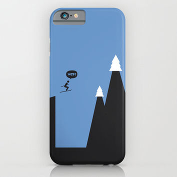 WTF? Ski iPhone & iPod Case by Estudio Minga | Www.estudiominga.com